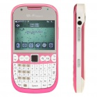 "2.2"" Dual SIM Dual Cameras Quadband GSM TV Qwerty Cell Phone w/ Wi-Fi - White + Pink"