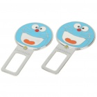 Universal Doraemon Style Seat Belt Buckle - Blue (Pair)