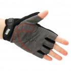 Outdoor Sports Bicycle Half-Finger Gloves - Black + Red (L Size / Pair)