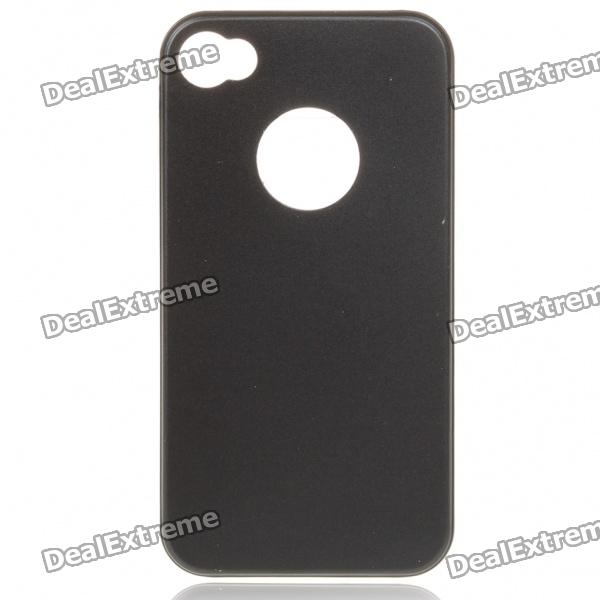 Protective Aluminum Case with Retractable Stylus Pen for Iphone 4 - Black