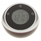 "1.5"" LCD Desktop Talking Digital Alarm Clock w/ Thermometer & 7-Colors Changeable LED Light (3xAAA)"