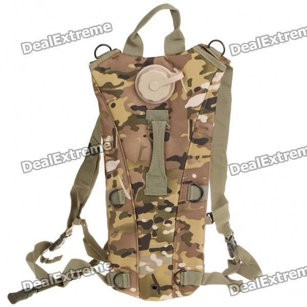 Fashion Survival Water Bag Backpack with Water Tube - Camouflage (2.5L) cordura outdoor tactical multifunction oxford cloth water bag storage backpack army green 2 5l