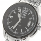 Stylish Alloy + Stainless Steel Water Resistant Quartz Wrist Watch with Calendar (1 x LR626)