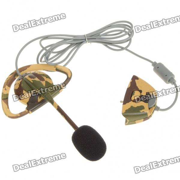 Fashion Camouflage Headset Earphone with Microphone for XBox 360 (2.5MM-Jack)