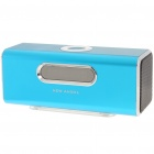 "1.6"" LCD 2x3W Mini USB Rechargeable MP3 Player Speaker with FM/USB/TF - Blue"