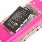 "1.6"" LCD 2x3W Mini USB Rechargeable MP3 Player Speaker with FM/USB/TF - Deep Pink"