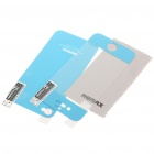 Protective Front + Back Skin Stickers with Cleaning Cloth for Iphone 4 - Blue