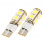 T10 2W 9-SMD 5050 LED 110LM 6000-6500K White Light Lamput Auto (Pair)