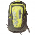 Outdoor Travel Backpack Double Shoulder Bag w/ Water Bag Pocket + Whistle (Light Green)