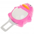 Universal Cute Penguin Style Safety Seat Belt Buckle (Deep Pink + White)