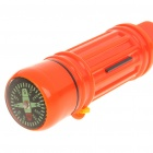 5-in-1 Survival Whistle + Compass + Signal Mirror + Storage + Flint