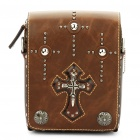 Cool Skull Cross Cow Leather One Shoulder Bag