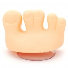Cute Toe Toothbrush Holder with Suction Cup