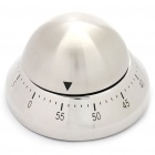 Dome Shaped Stainless Steel Mechanical Kitchen Cooking Twist Timer (60-Minute)