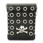 Cool Skull Cross Cow Leather Waist/One Shoulder Bag