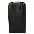 Protective PU Leather Case Pouch for HTC G15 Salsa - Black