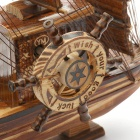 'Valentines Woodcraft 3 Sailing Boat Music Box - Brown