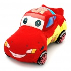 Cute Cars McQueen Figure Plush Toy Doll - Red + Blue + Black