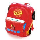 Cute Cars McQueen Plush Backpack Bag - Red