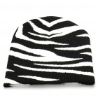 Trendy Outdoor Travel Knitting Cycling Hat/Cap - Black + White (Stripes)