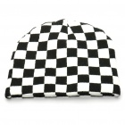 Trendy Outdoor Travel Knitting Cycling Hat/Cap - Black + White (Grids)