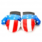 PU Leather USA Boxing Gloves with American Flag (Pair)
