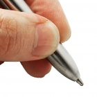 Stainless Steel 2-in-1 Black/Red Ballpoint Pen + Capacitive Stylus Pen for Ipad/Iphone