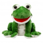 Funny Hand Puppet Plush Toy Doll with Sound Effect - Frog (2 x AA)