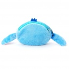 Cute Stitch Style Plush Bag with Strap - Blue