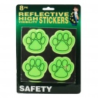 Cute Feet Style Reflective PVC Stickers (8-Piece Pack)