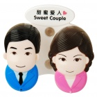 Sweet Couple Pattern Toothbrush Holder with Suction Cups