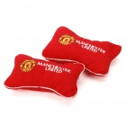 Football Team Logo Style Head Rest Plush Pillows with Stretchy Strap - Manchester United (Pair)