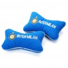 Football Team Logo Style Head Rest Plush Pillows with Stretchy Strap - Inter Milan (Pair)