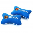 Football Team Logo Style Head Rest Plush Pillows with Stretchy Strap - Barcelona (Pair)