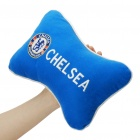 Football Team Logo Style Head Rest Plush Pillows with Stretchy Strap - Chelsea (Pair)