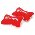 Football Team Logo Style Head Rest Plush Pillows with Stretchy Strap - Arsenal (Pair)