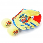 PU Leather Baseball Glove & Foam Balls Set