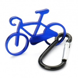 Aluminum Alloy Bicycle Model Keychain Carabiner Hook - Random Color