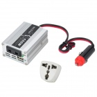 150W Car Cigarette Lighter 12V DC to 220V AC Power Inverter with USB Power Port - Silver