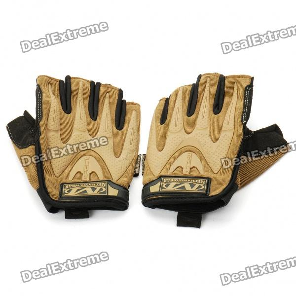 Vietnam Mechanix M-pact Tactical Half Finger Gloves - Coyote Brown (M-Size/Pair)