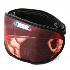 Unisex Electronic Dual Channel Muscle Massage Exercise Fitness Belt - Red + Black (2 x AAA)