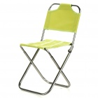 Portable Outdoor Folding Seat Stool with Backrest (Random Color)