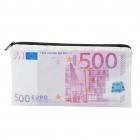 Unique Creative 500 Euro Bill Style Wallet Purse with Zipper - Colorful