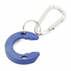 C-Shape Water Bottle Mounting Holder Carabiner Snap Hook Clip (Random Color)