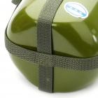 Outdoor Aluminum Military Sports Water Bottle with Shoulder Strap - Army Green (1.5L)