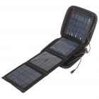 Portable Folding Solar Powered 4600mAh Battery w/ Charring Adapters for Cell Phone/Headlamp + More