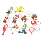 Cute Super Mario Figure Keychains (11-Piece Pack)