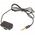3.5mm Male to Female Stereo Audio Adapter Cable w/ Microphone/Clip for Cell Phone (71cm-Length)