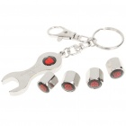 Zinc Alloy Car Valve Caps w/ Wrench Keychain for Chevrolet - Autobot Transformer Pattern