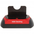 "USB 3.0 2.5""/3.5"" SATA HDD Docking Station - Black + Red"